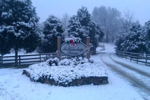 Winter wonderland on the farm