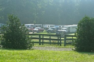 They trailered in for two days of lesson,lunch and lazy hot summer days