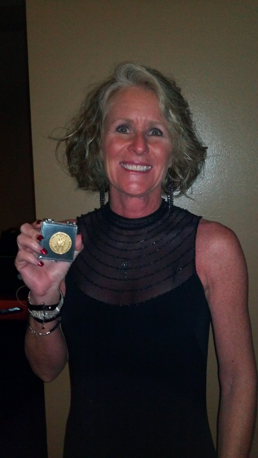 Val and her Gold Medal